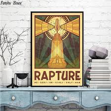 Poster Bioshock Rapture Video Game Movie Posters And Prints Canvas Painting Wall Art Picture For Living Room Home Decoration Painting Calligraphy Aliexpress