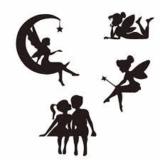 Beautiful Silhouette Cute Small Fairy Girl Popular Decal Black Silver Vinyl Artistic Style Car Sticker Car Stickers Aliexpress
