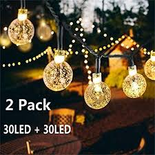 solar globe string lights 30 led 19 8ft