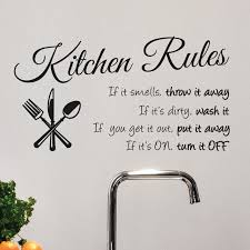 Isabelle Max Kitchen Rules Wall Decal Reviews Wayfair
