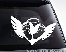 Heart Angel Wings Halo Car Window Vinyl Decal Sticker Car Truck Graphics Decals Auto Parts And Vehicles Tamerindsa Com Ar