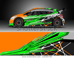 Car Decal Wrap Design Vector Graphic Stock Vector Royalty Free 1181907748