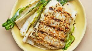 Grilled Halibut and Bok Choy Recipe ...