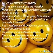 smile an effortless beaut quotes writings by hetvi sanghavi