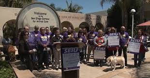 san go animal shelter workers rally