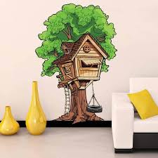 Shop Tree House Kids Full Color Wall Decal Sticker K 205 Frst Size 40 X80 Overstock 20872206