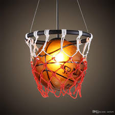 Fashion Basketball Boys Room Pendent Lamp Vintage Child Room Pendent Lighting Kids Bedroom Pendent Light Fixtures Drum Pendant Lights Drum Light Pendant From Oovov 145 73 Dhgate Com