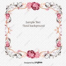 الورود تصميم الحدود الإبداعية ناقلات الحدود ارتفع الإبداعية