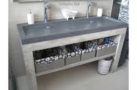 double trough gray granite stone double