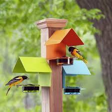 Fence Post Bluebird Feeder Blue Or Orange Bird Feeders Diy Bird Feeder Wooden Bird Feeders