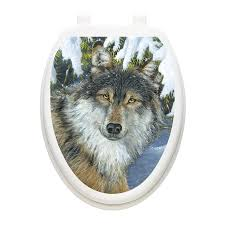 Toilet Tattoos Lone Wolf Toilet Seat Decal Reviews Wayfair