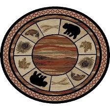 vogel bear round rug 7 foot