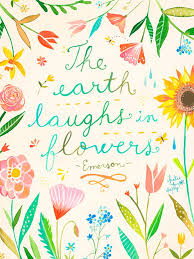 Wheatpaste The Earth Laughs In Flowers By Katie Daisy Wall Decal Wayfair