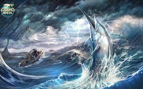 fish marlin s storm ocean sea