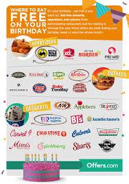 free birthday meals 2020 restaurant w