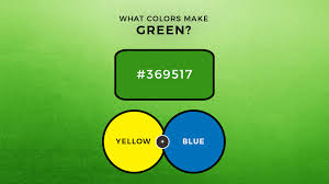 what colors make green what two colors