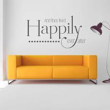 And They Lived Happily Ever After Wall Art Sticker Decal Etsy