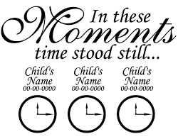 In These Moments Time Stood Still Wall Decal Quote Sticker Art Decor For Sale Online Ebay