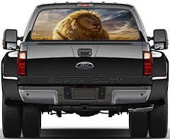 Lion Rear Window Decal Graphic Sticker Car Truck Suv Van Animals 438