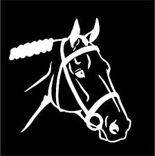 English Horse Head Decal Car Truck Trailer Window Vinyl Equestrian Sticker Ebay