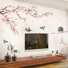 Pink Peach Flower Blossom Wall Stickers Kids Art Baby Nursery Decor Decal For Sale Online
