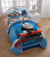 tank engine train theme boys bedroom