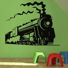 Steam Train Wall Sticker Home Decor Removable Living Room Children Kids Room Decoration Nursery Wall Decals Nursery Wall Decal Wall Decalsroom Child Aliexpress