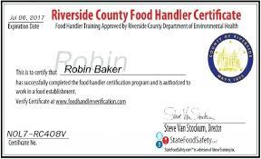 riverside food handlers card pictures