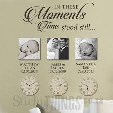 Moments Wall Art Sticker With Dates Photo Wall Sticker
