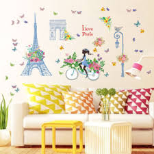 China Sk9164 Eiffel Tower Paris Wall Sticker China Room Sticker And Home Decoration Price