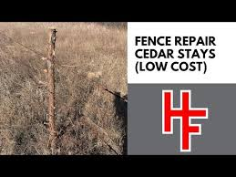 Fence Repair Using Cedar Stays Youtube