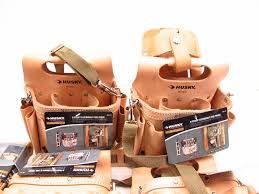 tool pouches and a tool belt