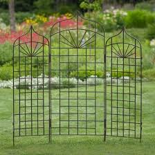 5 Foot Or 6 Foot Iron Ogee Arch Trellis Metal Garden Trellis Garden Trellis Iron Trellis