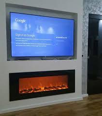 wall mounted decorative fireplace