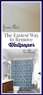 the easiest way to remove wallpaper