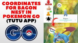 COORDINATES FOR BAGON NEST IN POKEMON GO (TUTU APP) - YouTube