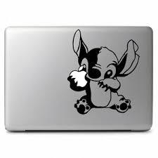 Disney Stitch Eat Apple For Apple Macbook Air Pro Laptop Vinyl Decal Sticker Ebay