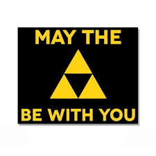 May The Triforce Be With You Vinyl Sticker Waterproof Decal Sticker 5 Walmart Com Walmart Com