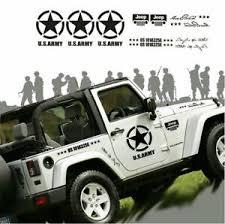 Vinyl Us Army Military Car Sticker Hood Star Decal For Jeep Cherokee Wrangler Ebay