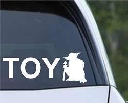 Star Wars Toy Yoda Toyota Funny Die Cut Vinyl Decal Sticker Decals City