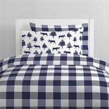 navy buffalo check kids bedding