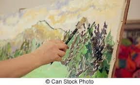 Talanted, paleta, óleo, quadro, mão, tintas, pintura, seu, pretas ...