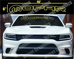 Mopar Yellow Outline Window Decal Charger Challenger Ram Or Any Dodge Model Mopars Com