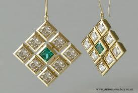 princess cut diamond pendant earrings