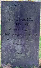 Abigail Cole Cole (1763-1834) - Find A Grave Memorial