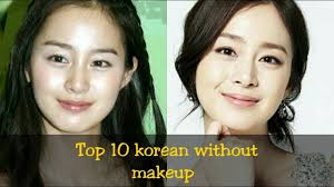 makeup before and after korean