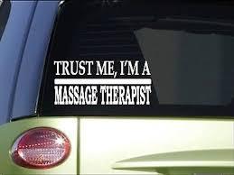Trust Me Massage Therapist H575 8 Inch Sticker Decal Massage Etsy