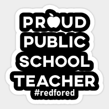 Red For Ed Stickers Teepublic