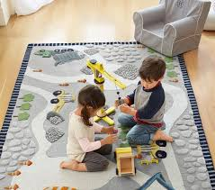Construction Rug Patterned Rugs Pottery Barn Kids