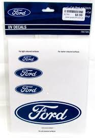 Ford Motor Company Blue Oval Logo Set Of 7 Car Sticker Decal Sheet Stickers Guy Stuff